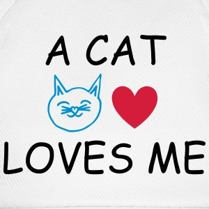 A Cat Loves Me Camisetas - Gorra béisbol