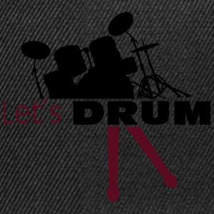 Lets drum drums with sticks  T-Shirts - Snapback Cap