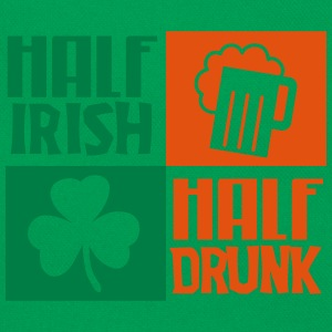 St. Patrick's day: Half irish, half drunk T-shirts - Retro taske