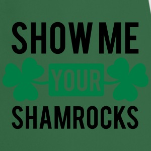 St. Patrick's day: Show me your shamrocks T-shirts - Keukenschort