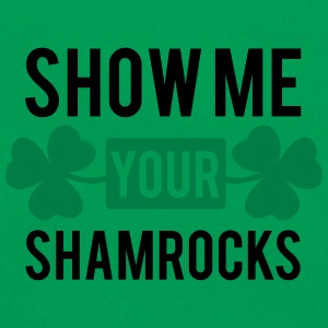 St. Patrick's day: Show me your shamrocks T-shirts - Retro taske