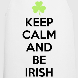St. Patrick's day: Keep calm and be irish T-shirts - Keukenschort
