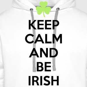 St. Patrick's day: Keep calm and be irish Koszulki - Bluza męska Premium z kapturem