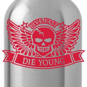 live_fast_die_young T-shirts - Vattenflaska