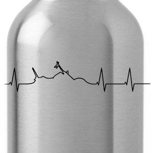Motorcycle Chopper heartbeat  T-Shirts - Water Bottle