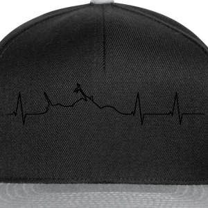 Motorcycle Chopper heartbeat  T-Shirts - Snapback Cap