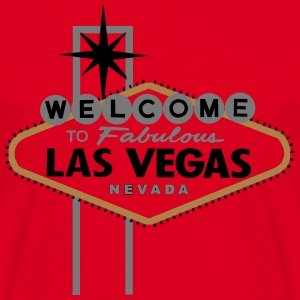 Las Vegas (fabulous, hoodie , red-white-black-gold - Männer T-Shirt
