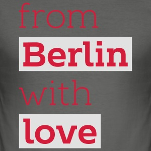 From Berlin with Love - Jütebeutel - Männer Slim Fit T-Shirt
