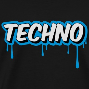TECHNO - Party Sweaters - Mannen Premium T-shirt