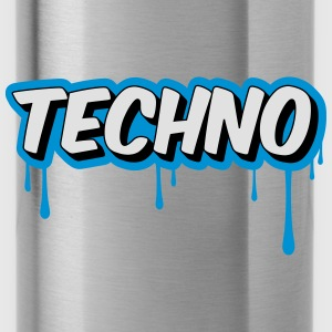 TECHNO - Party Petten & Mutsen - Drinkfles