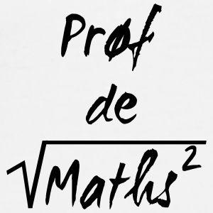 Prof de maths Kopper & flasker - Premium T-skjorte for menn