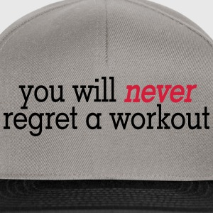 you will never regret a workout 2c T-skjorter - Snapback-caps