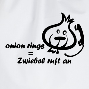 Kindershit onion rings - Zwiebel ruft an - Turnbeutel