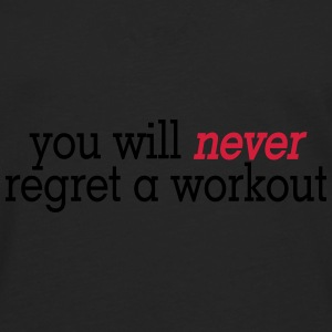 you will never regret a workout 2c Caps & Mützen - Männer Premium Langarmshirt