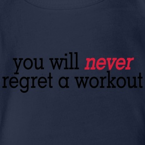 you will never regret a workout 2c Shirts met lange mouwen - Baby bio-rompertje met korte mouwen