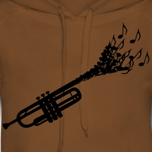 Trumpet sheet music  T-Shirts - Women's Premium Hoodie
