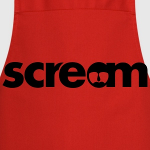 scream open mouth  T-Shirts - Cooking Apron