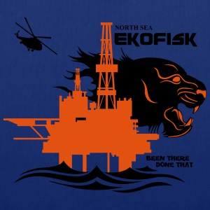 Ekofisk Oil Rig Platform Norway - Tote Bag