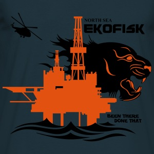 Ekofisk Oil Rig Platform Norway - Men's T-Shirt