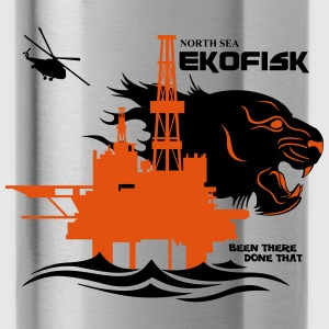 Ekofisk Oil Rig Platform Norway - Water Bottle
