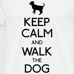 keep calm dog opbevare rolig hund Sweatshirts - Herre premium T-shirt