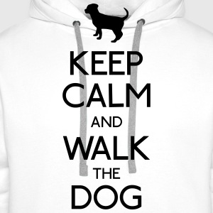 keep calm dog T-Shirts - Men's Premium Hoodie