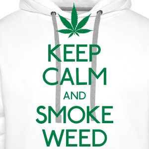 Keep Calm and smoke  T-Shirts - Männer Premium Hoodie
