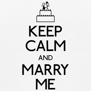 keep calm marry me holde ro frieri Kopper & flasker - Premium T-skjorte for menn