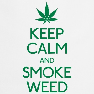 keep calm and smoke  mantener la calma y humo  Sudaderas - Delantal de cocina