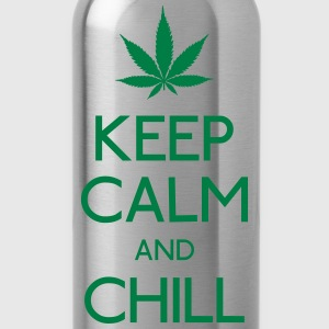 keep calm and smoke  Shirts - Water Bottle