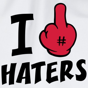 I fuck haters 2c_b T-Shirts - Drawstring Bag