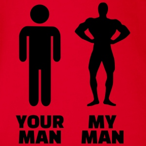 Your man my man T-Shirts - Baby Bio-Kurzarm-Body