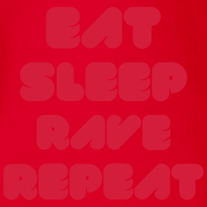 EAT SLEEP RAVE REPEAT Skjorter - Økologisk kortermet baby-body