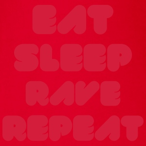 EAT SLEEP RAVE REPEAT Tee shirts manches longues - Body bébé bio manches courtes