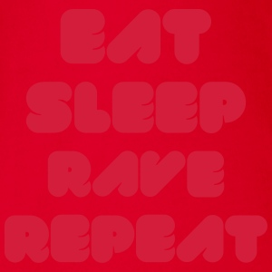 EAT SLEEP RAVE REPEAT Gensere - Økologisk kortermet baby-body
