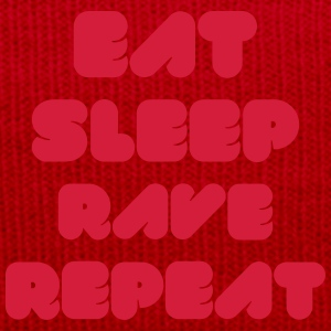 EAT SLEEP RAVE REPEAT Borse & zaini - Cappellino invernale