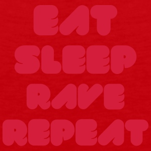 EAT SLEEP RAVE REPEAT Caps & Hats - Men's Premium Tank Top