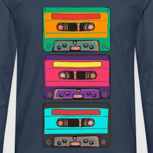 Colorful Cassettes Retro Hoodies & Sweatshirts - Men's Premium Longsleeve Shirt