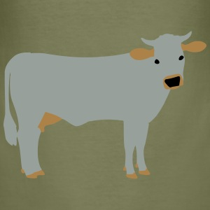 brown cattle vektor NL Tassen & rugzakken - slim fit T-shirt