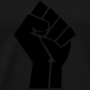 Raised Fist Hoodies & Sweatshirts - Men's Premium T-Shirt