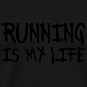 running is my life T-shirts - Herre premium T-shirt