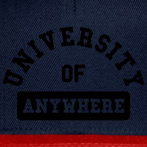 university of anywhere Magliette - Snapback Cap