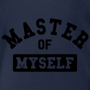 master of myself Tee shirts - Body bébé bio manches courtes