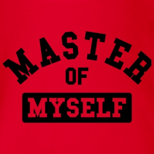 master of myself T-Shirts - Baby Bio-Kurzarm-Body