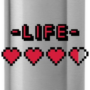 8-bit gamer lifebar Caps & Hats - Water Bottle