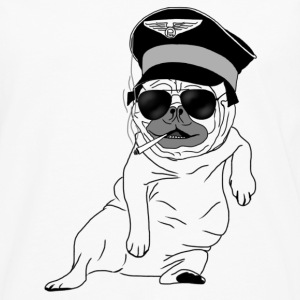 Pug Pilot Bottles & Mugs - Men's Premium Longsleeve Shirt