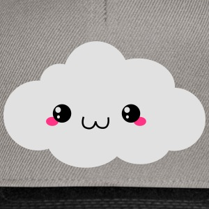 Happy Kawaii Cloud (nuage) Sweats - Casquette snapback