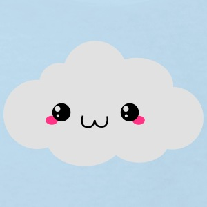 Happy Kawaii Cloud (sky) Skjorter - Økologisk T-skjorte for barn