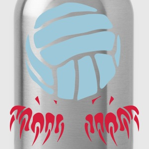 Volleyball Ball-Logo Klaue Pfote 2802 T-Shirts - Trinkflasche