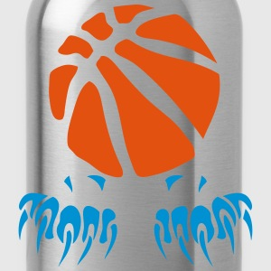 Basketball Ball Klaue Pfote logo 2802 T-Shirts - Trinkflasche